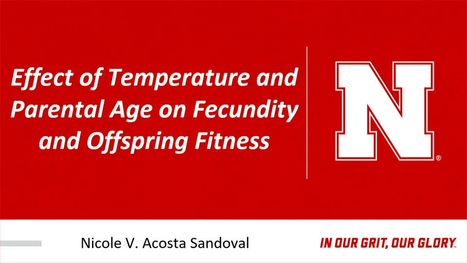 Effect of Temperature and Parental Age on Fecundity and Offspring Fitness