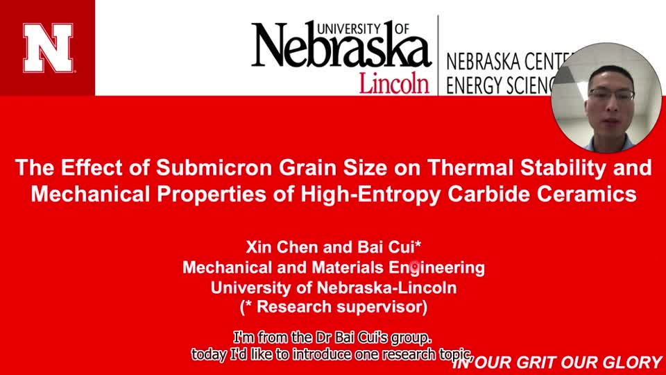 The effect of submicron grain size on thermal stability and mechanical properties of high-entropy carbide ceramics