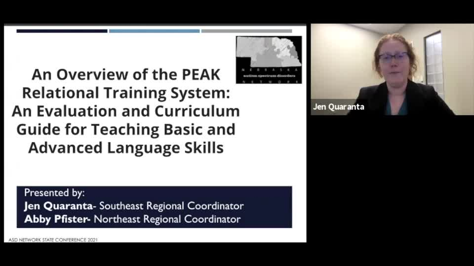 An Overview of the PEAK Relational Training System