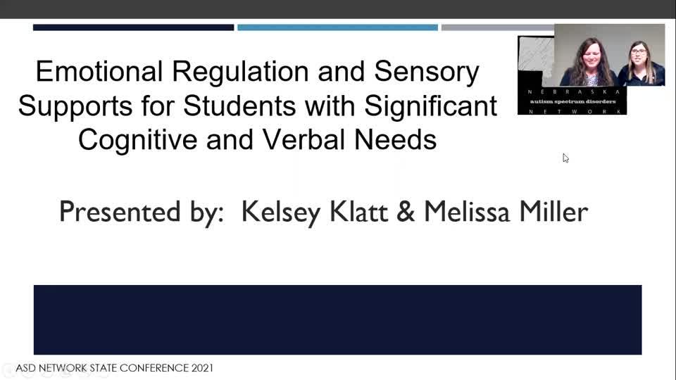 Emotional Regulation and Sensory Supports