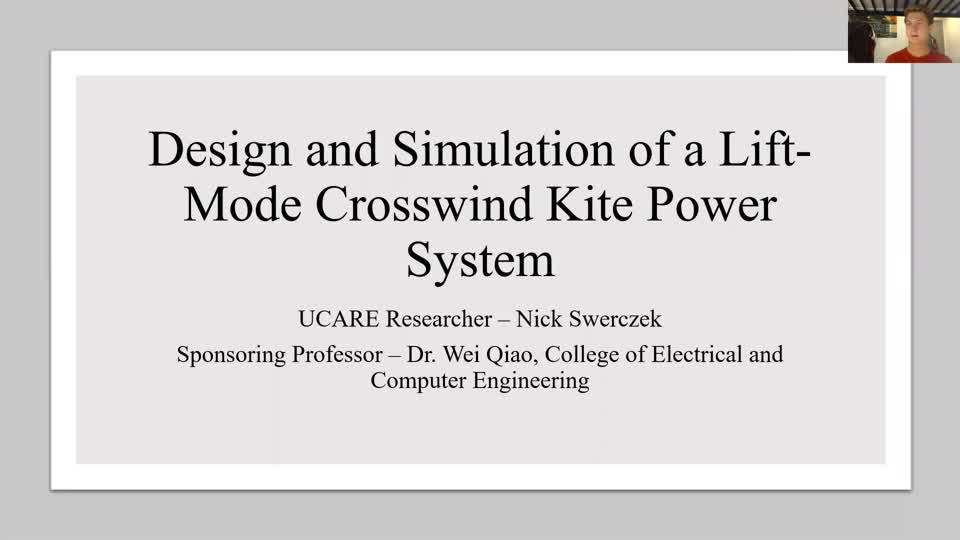 Design and Simulation of a Lift-Mode Crosswind Kite Power System