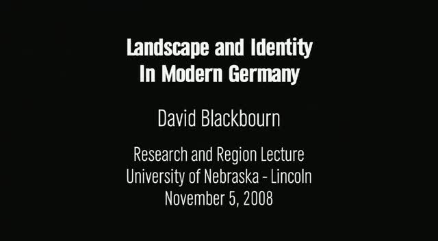 Landscape and Identity in Modern Germany