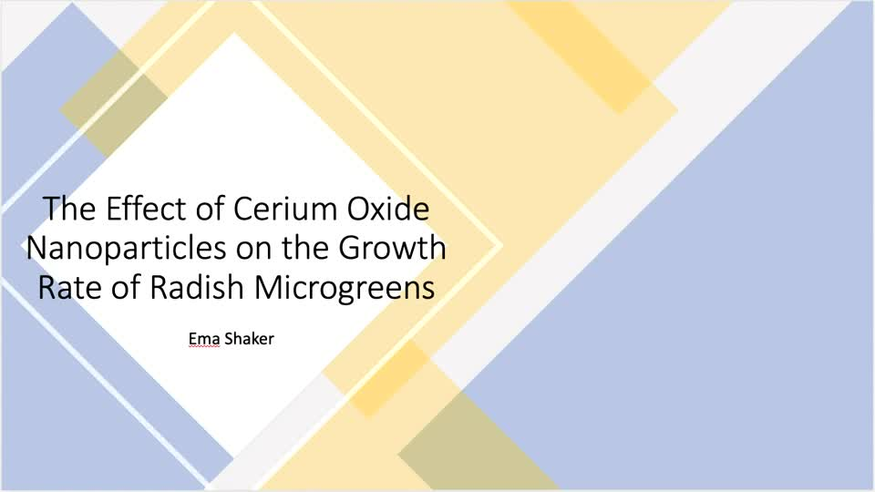 The Effect of Cerium Oxide Nanoparticles on the Growth Rate of Radish Microgreens