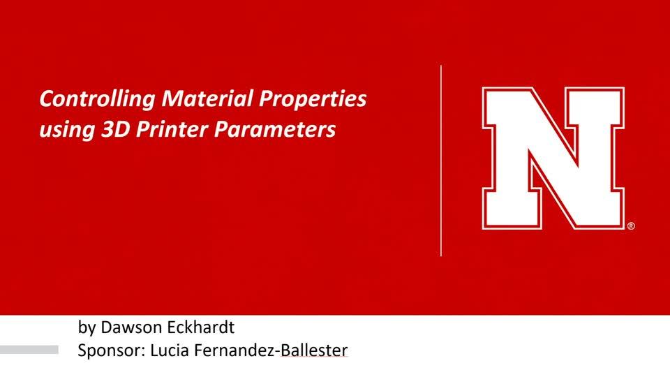 Controlling Material Properties using 3D Printer Parameters
