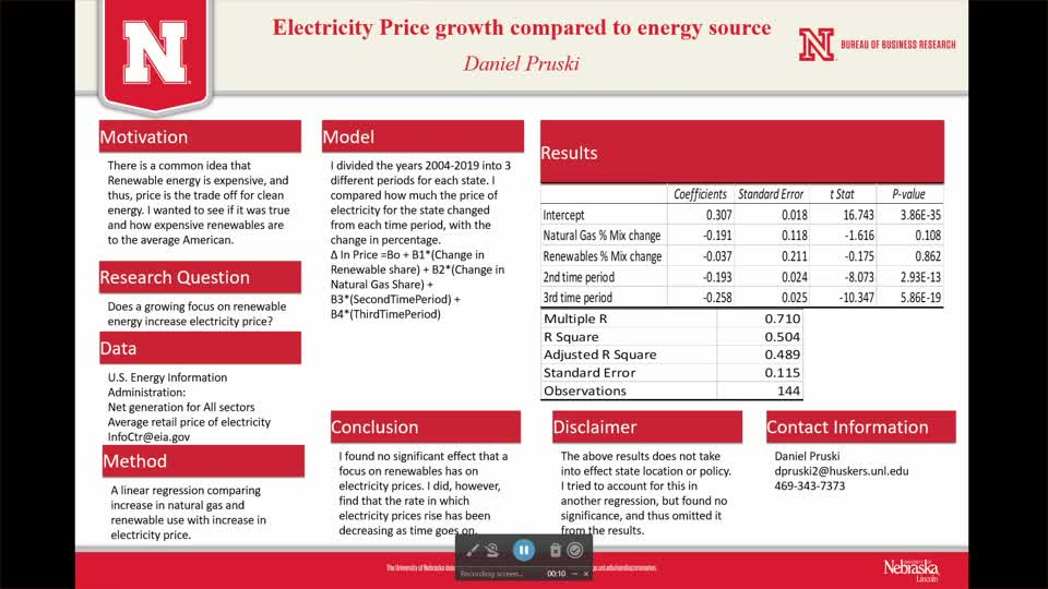 Electricity Price Growth Compared to Energy Source