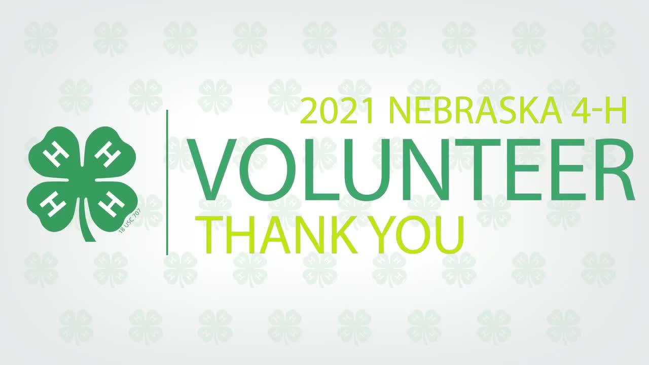 2021 Nebraska 4-H Volunteer Thank You