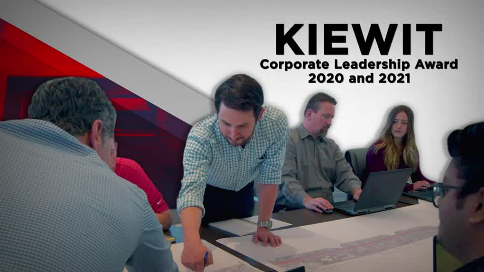 Kiewit receives the Corporate Leadership Award for 2020 and 2021