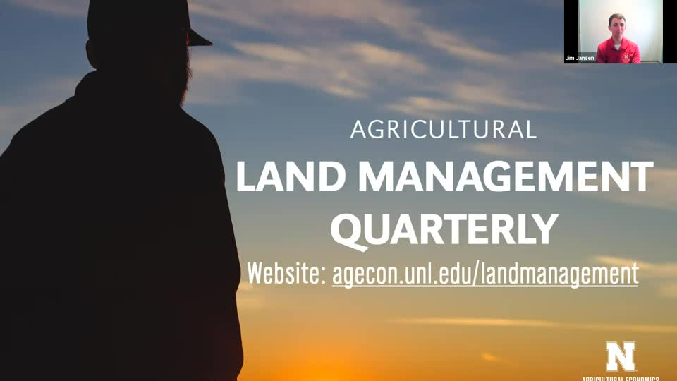 Agricultural Land Management Quarterly - May 17, 2021