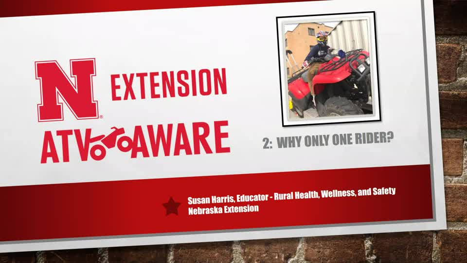 Why Only One Rider? - ATV Aware