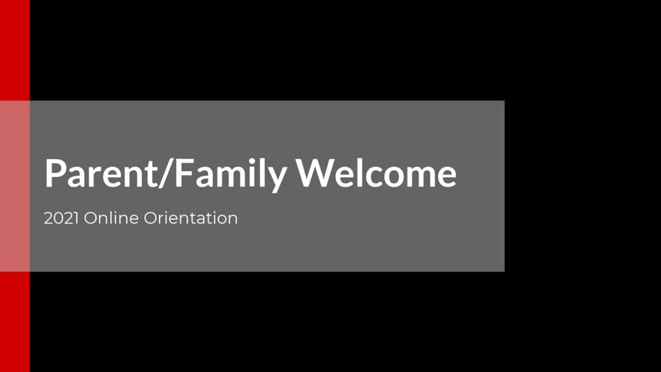 Parent/Family Welcome