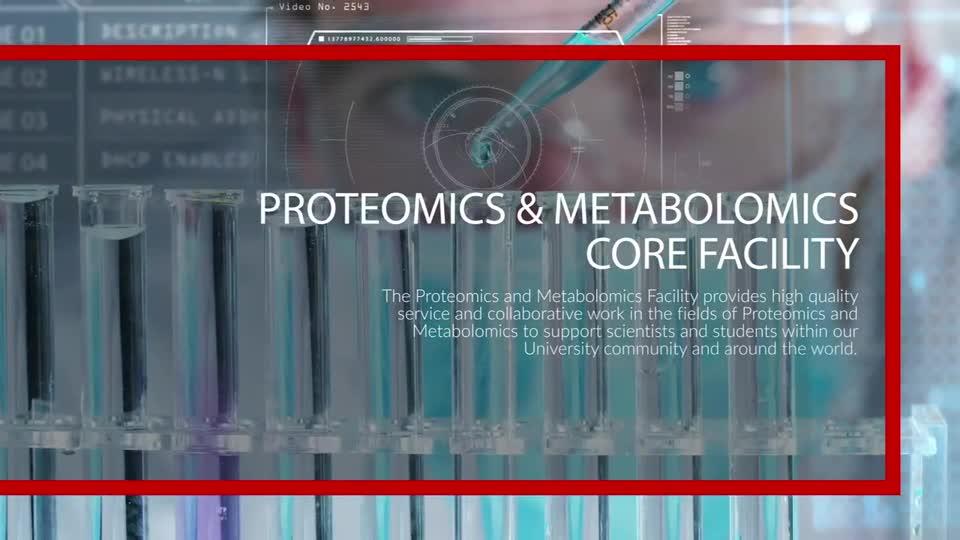 Proteomics and Metabolomics Core Virtual Tour Video