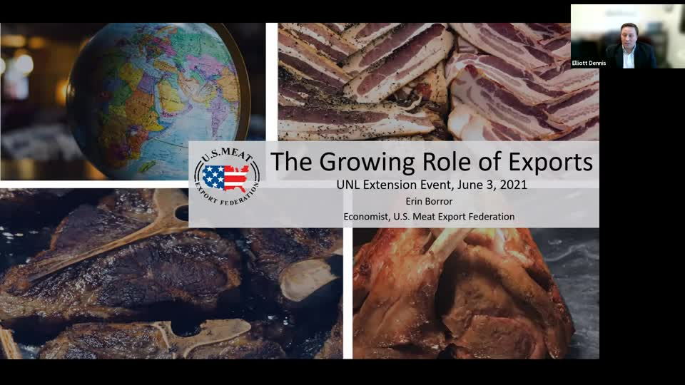 The Growing Role of Exports in Livestock Markets (June 3, 2021 Webinar)