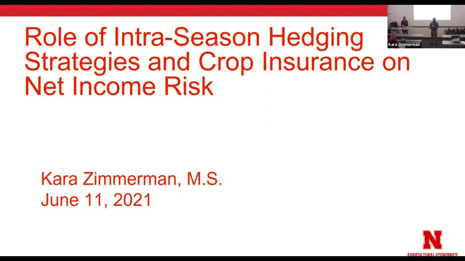 The Role of Intra-season Hedging Strategies and Crop Insurance on Net Income Risk