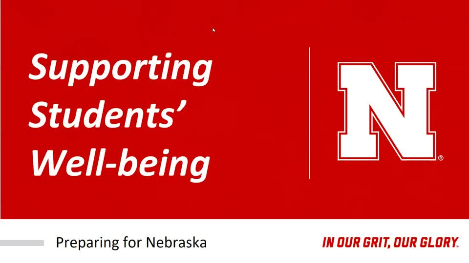 Supporting Students' Well-being