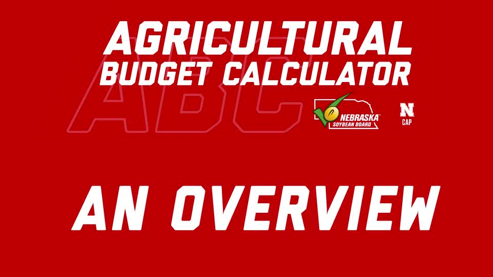 Agricultural Budget Calculator - Overview (Updated July 2021))