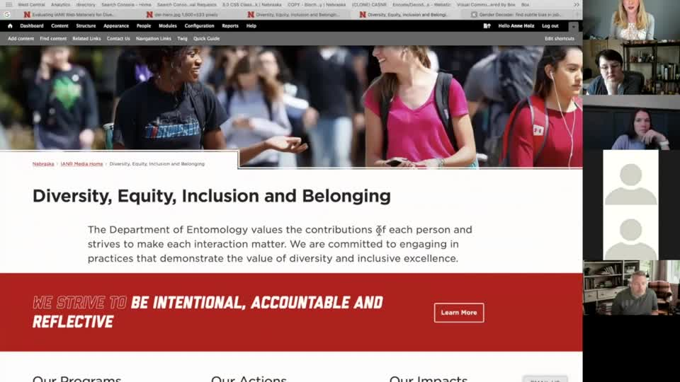 Evaluating IANR Web Materials for Diversity, Equity, Inclusion and Belonging