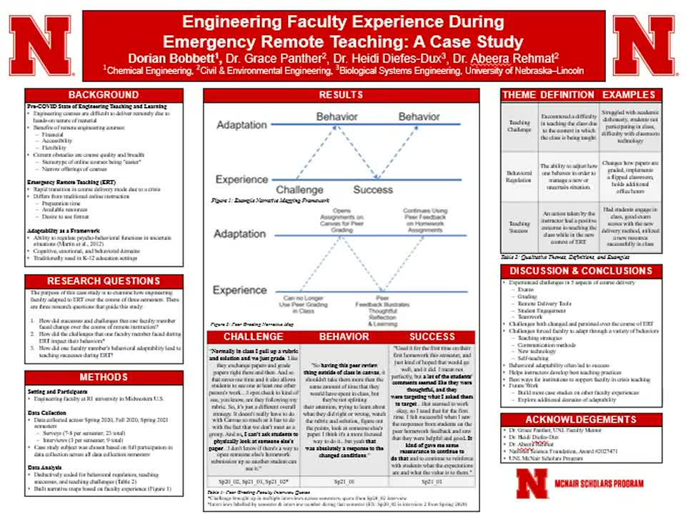 Engineering Faculty Experience During Emergency Remote Teaching: A Case Study