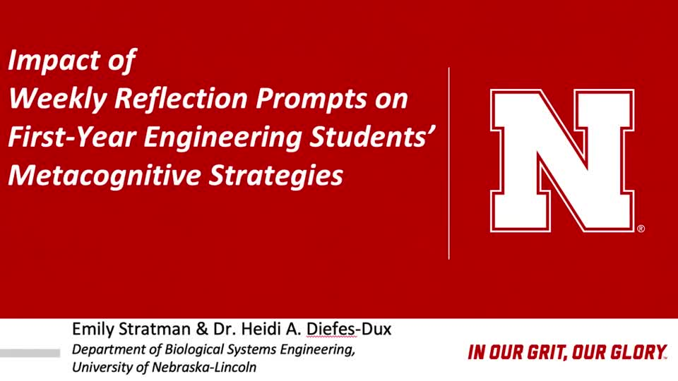 Impact of Weekly Reflection Prompts on First-Year Engineering Students' Metacognitive Strategies