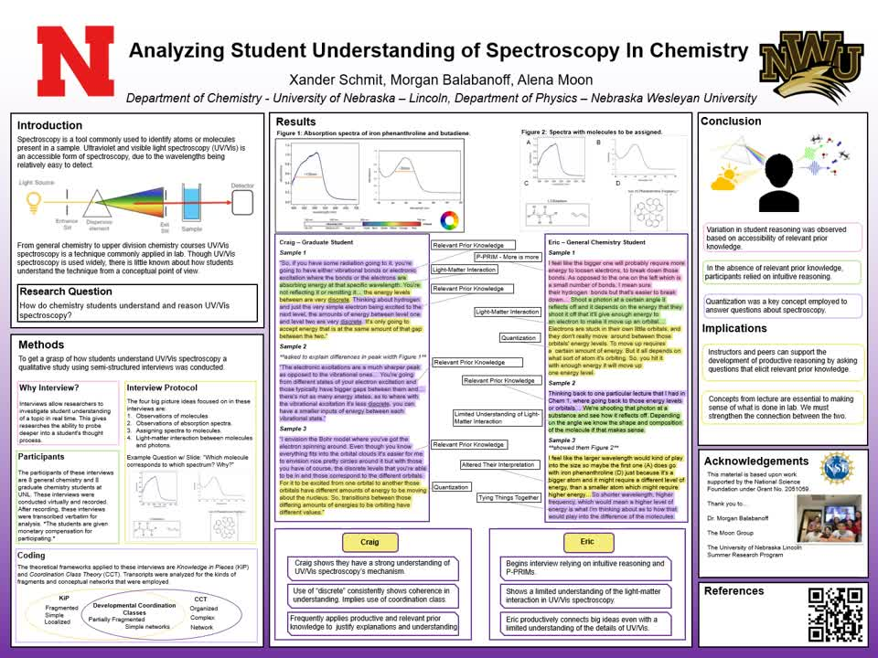Analyzing Student Understanding of In Chemistry