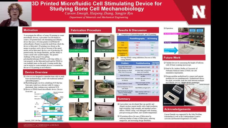 3D Printed Microfluidic Cell Stimulating Device for Studying Bone Cell Mechanobiology