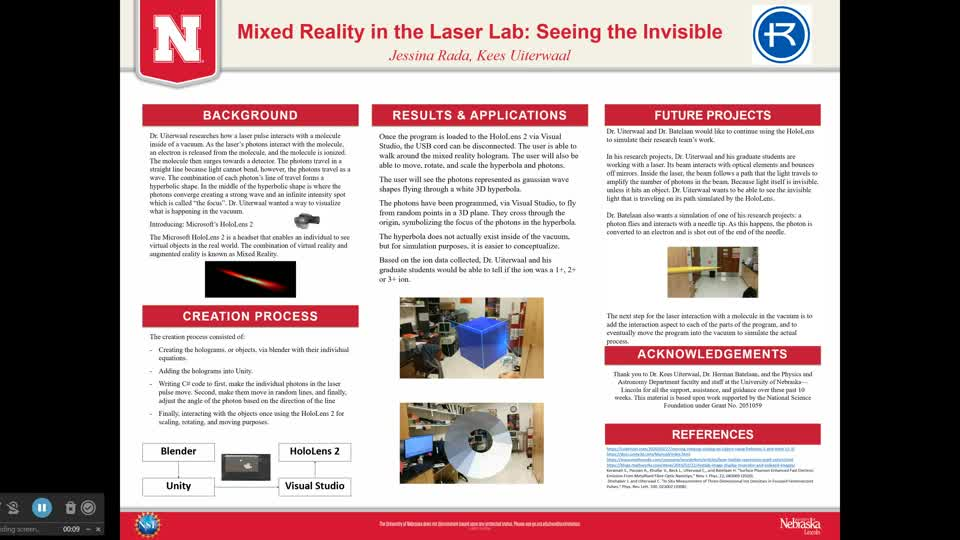 Mixed Reality in the Laser Lab: Seeing the Invisible