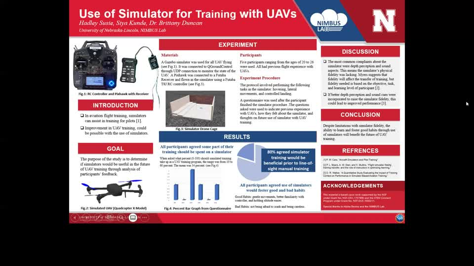 Use of Simulator for Training with UAVs
