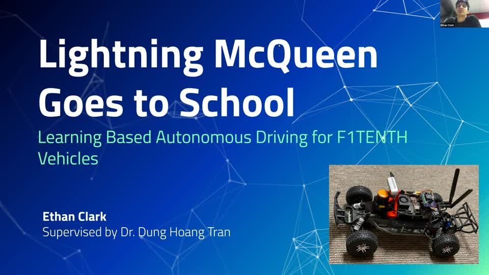 Lightning McQueen Goes to School: Learning Based Autonomous Driving for F1TENTH Vehicles