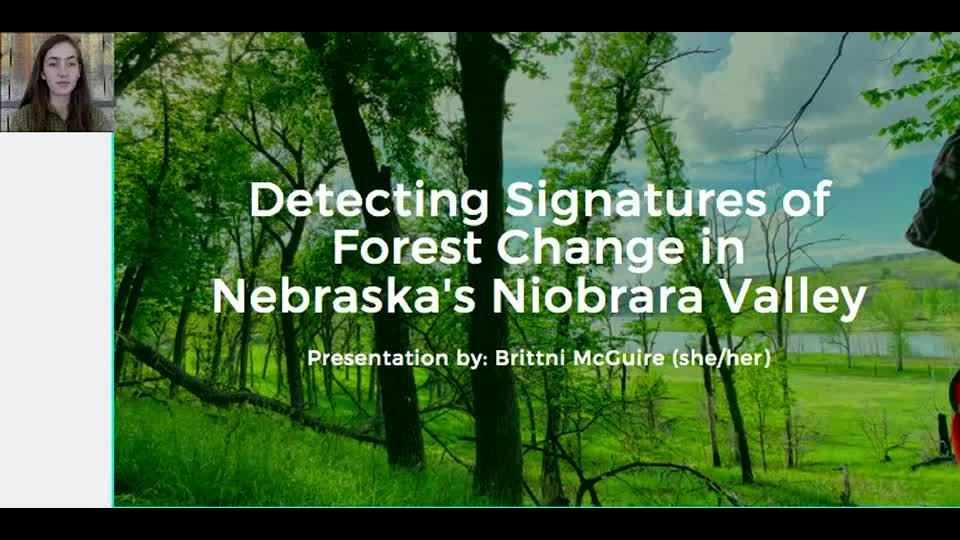 Detecting Signatures of Forest Change in Nebraska's Niobrara Valley