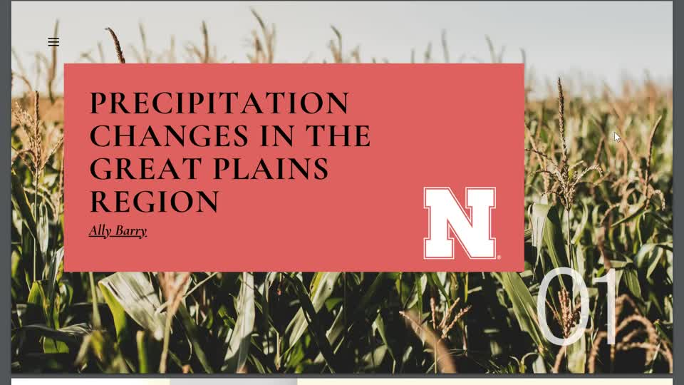 Precipitation Changes in The Great Plains Region