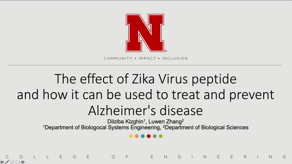 The effect of Zika Virus peptide and how it can be used to treat and prevent Alzheimer's disease