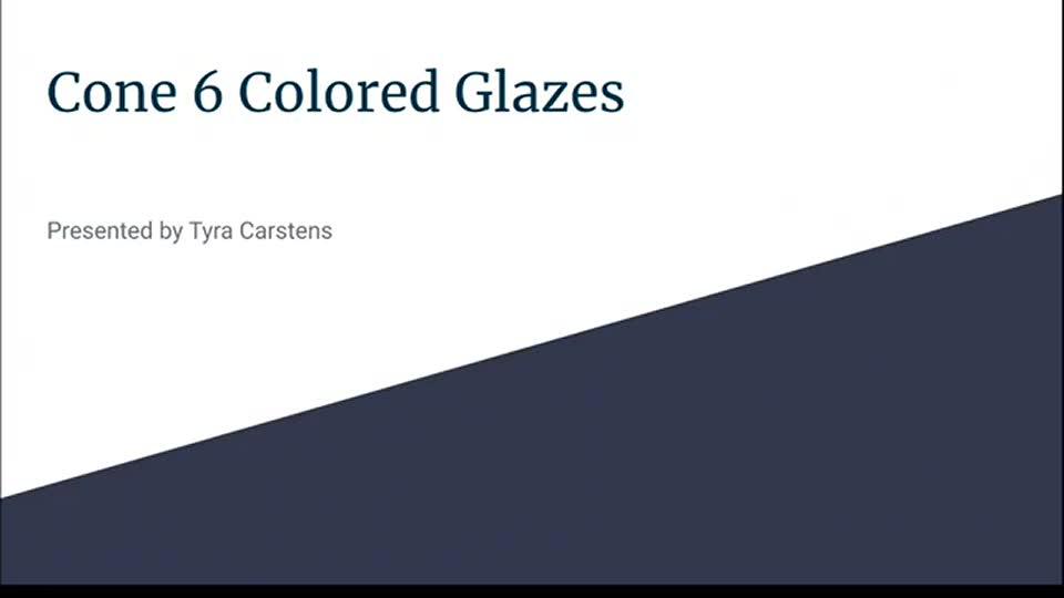 Cone 6 Colored Glazes