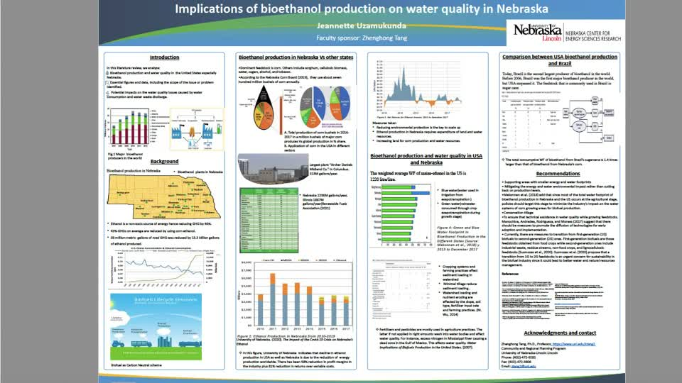 Implications of bioethanol production on water quality in Nebraska