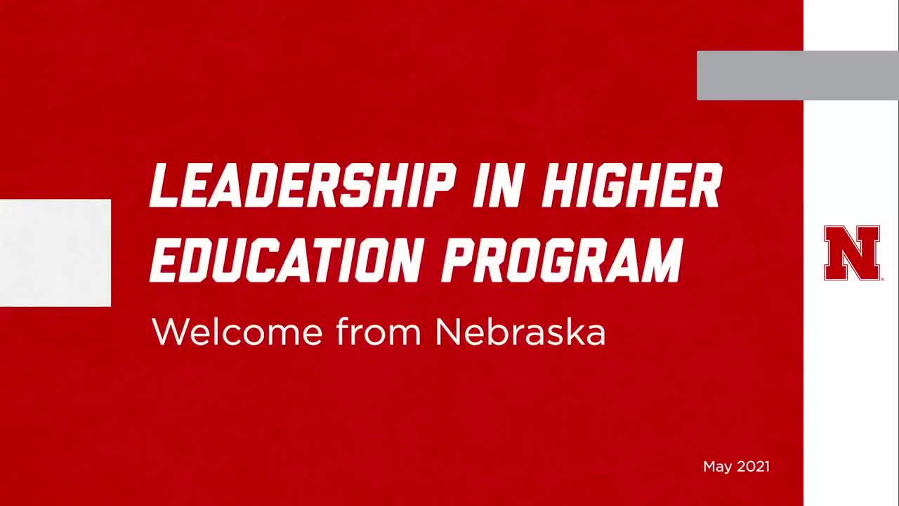Welcome to the Leadership in Higher Education Program