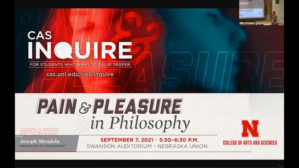 """""""Pain and Pleasure in Philosophy"""" by Joseph Mendola   CAS Inquire"""