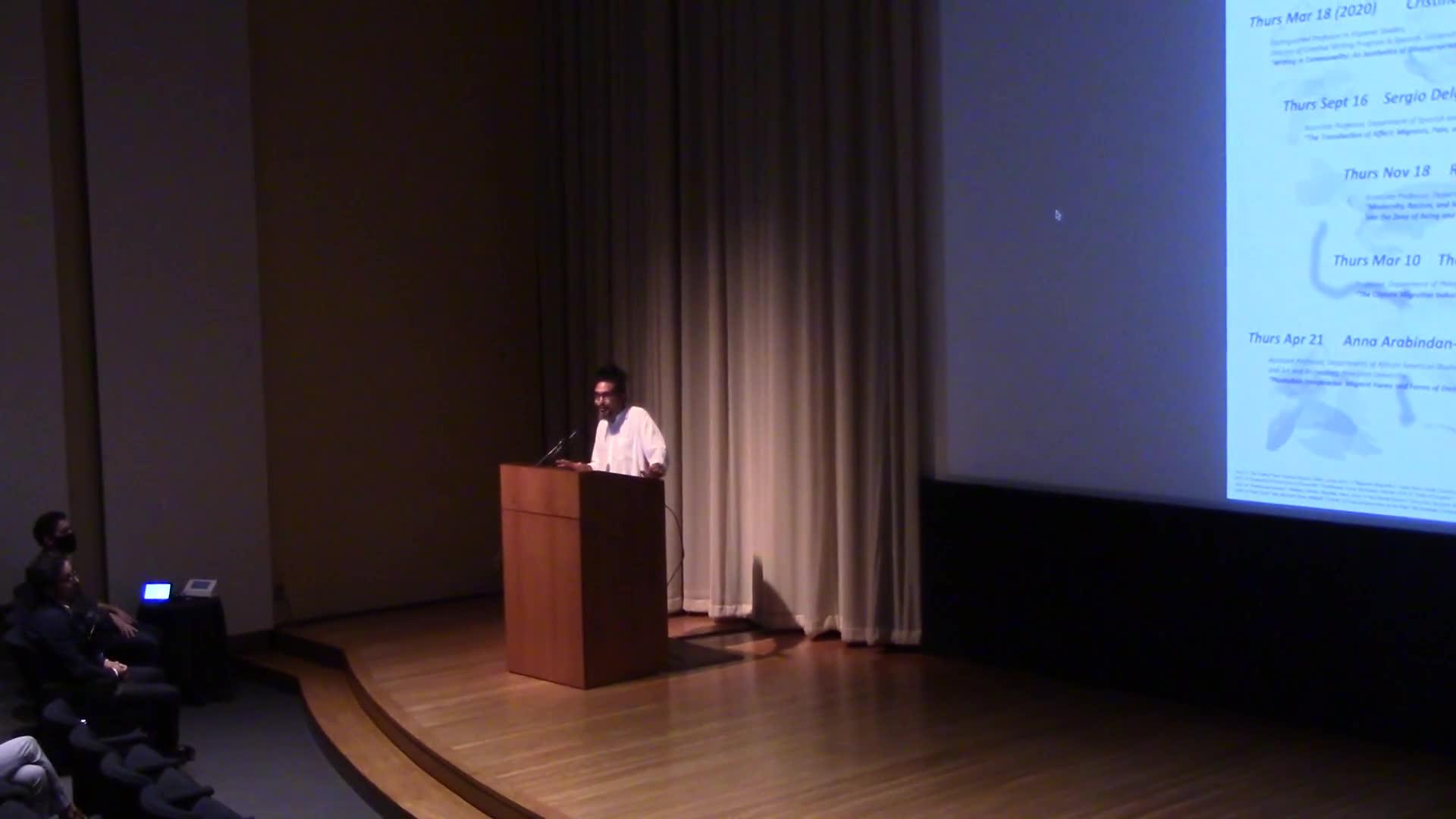 Humanities on the Edge presents: Sergio Delgado Moya
