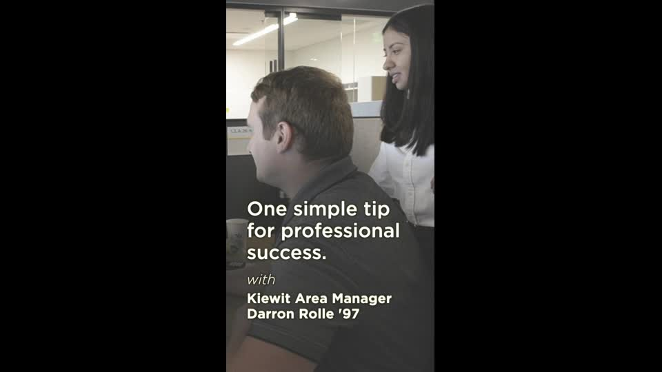 One Tip for Professional Success