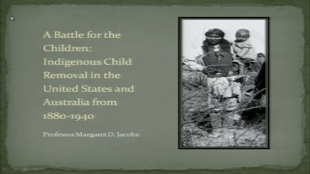 A Battle for the Children: Indigenous Child Removal in the U.S. and Australia from 1880-1940