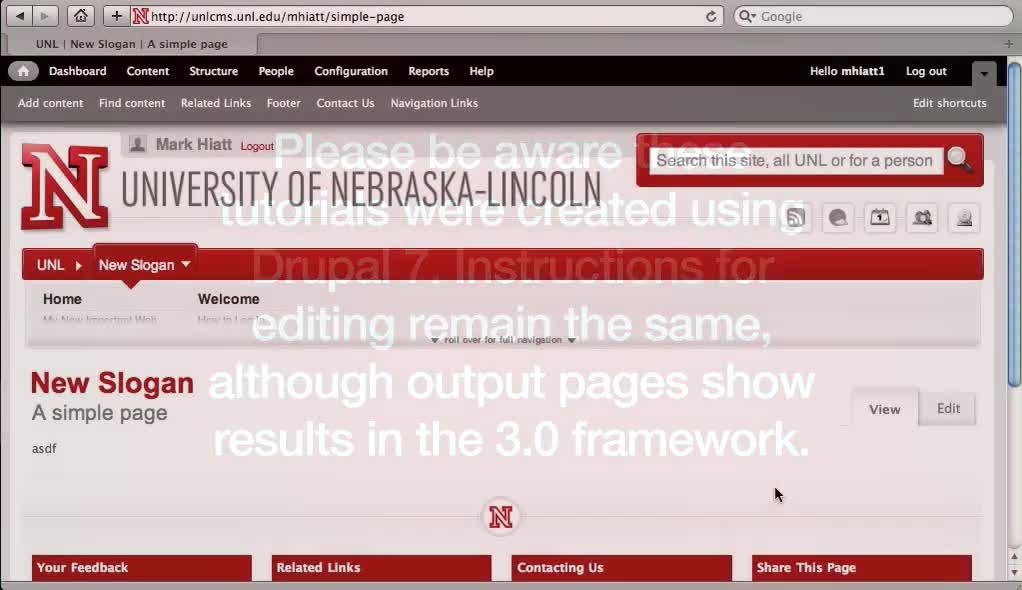 Designate a Home Page