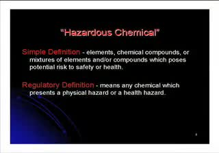 Chemical Safety: What You Don't Know Can Hurt You!