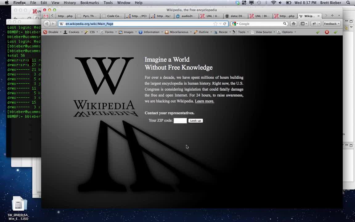 Wikipedia SOPA CSS