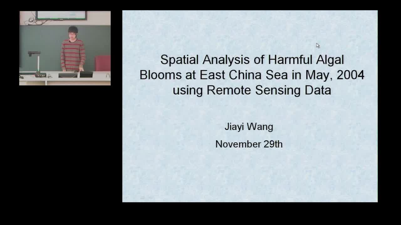 Spatial Analysis of Harmful Algal Blooms at East China Sea - May 2004 - Using Remote Sensing Data