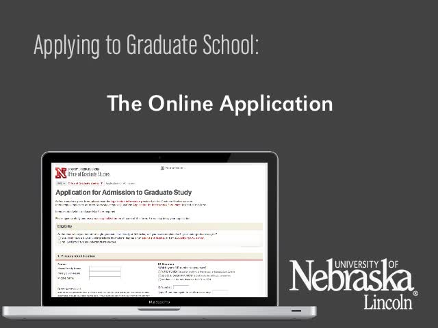 Applying to Graduate School: The Online Application