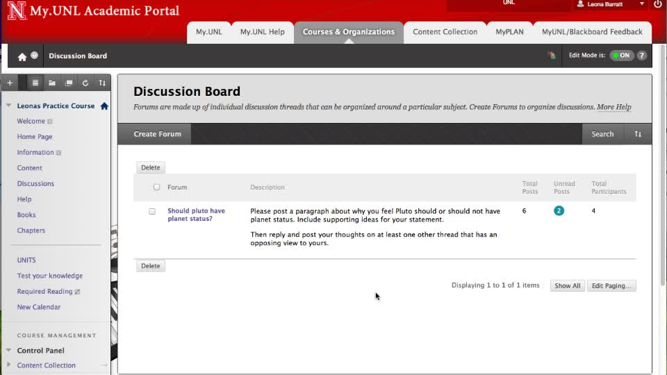 Discussion Board - Enhanced Features