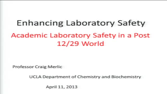 Enhancing Laboratory Safety