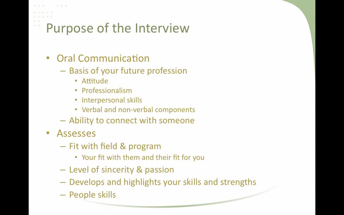 Effective Interviewing for the Health Sciences