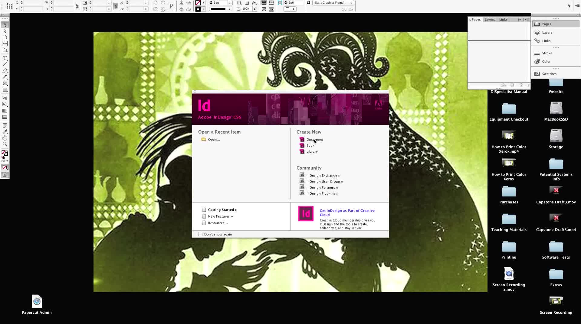 Printing a Booklet From InDesign