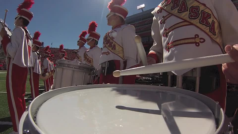 Cornhusker Marching Band pre-game