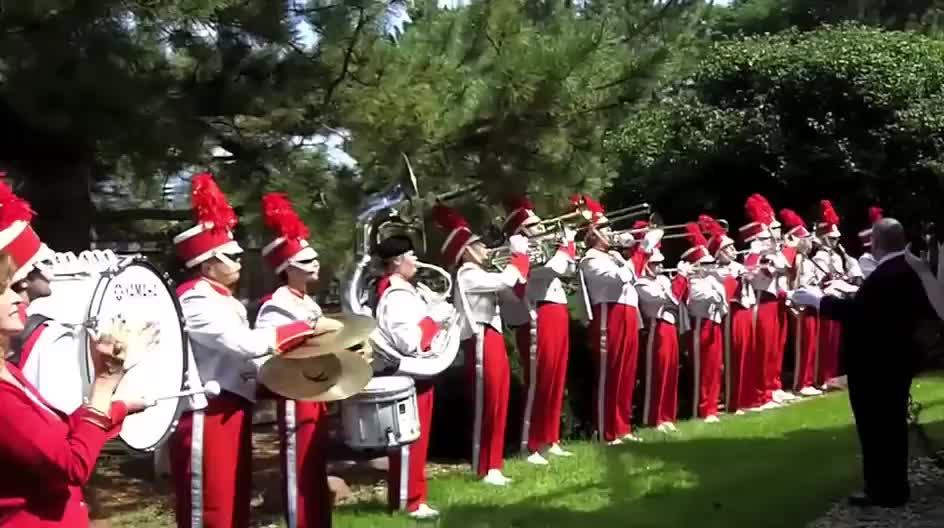 Cornhusker Marching Band travels to honor Glenn Korff