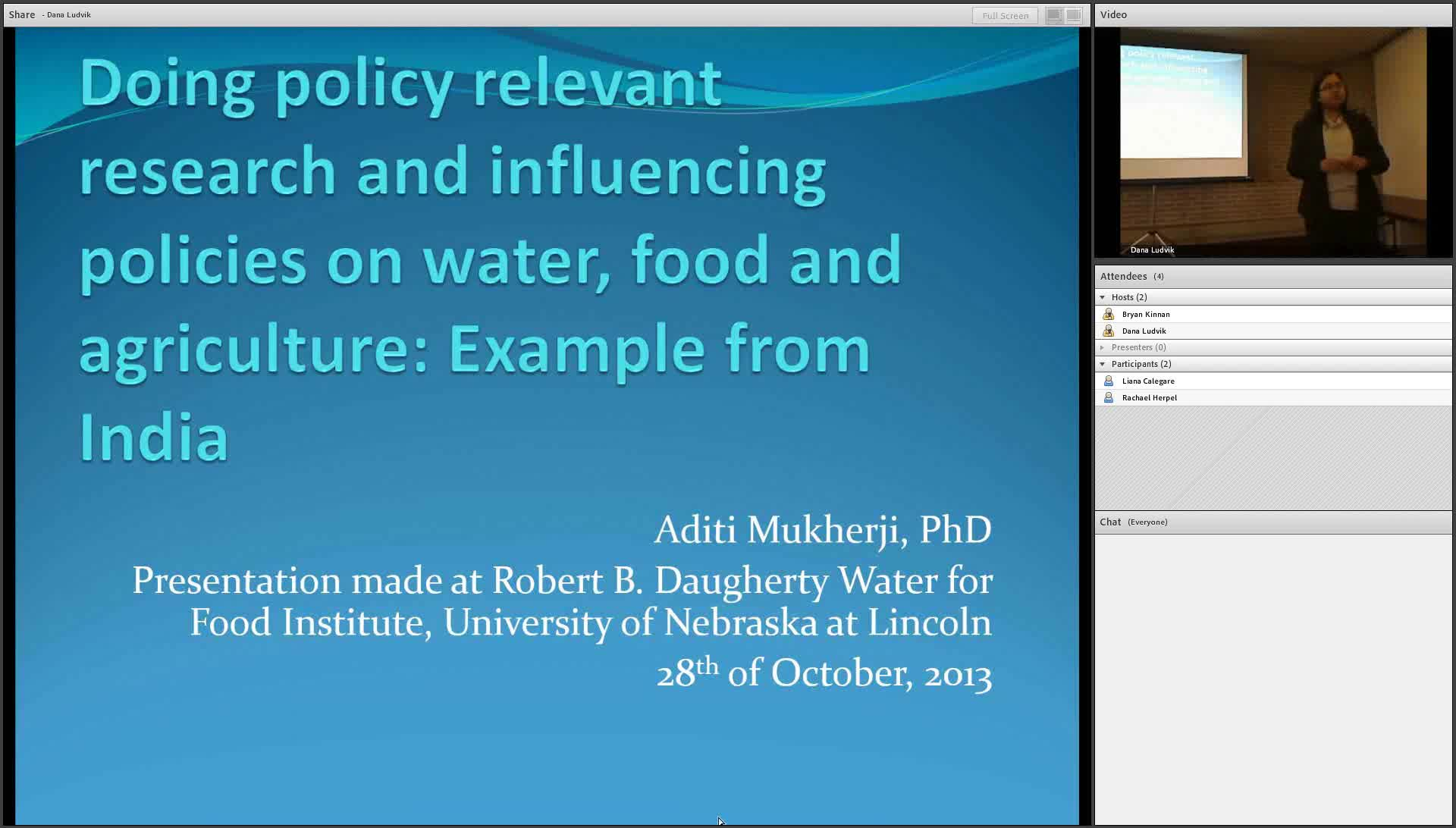 Doing Policy Relevant Research on Water, Food and Agriculture: Examples from India