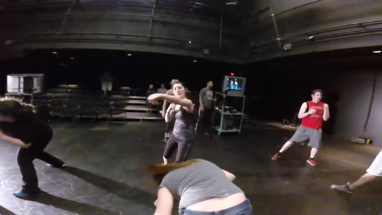 Professional Stuntwoman and UNL Alum Jessie Graff (B.A. Theatre 2007) returned to UNL on May 9, 2014, to present a masterclass for students in the Johnny Carson School of Theatre and Film.